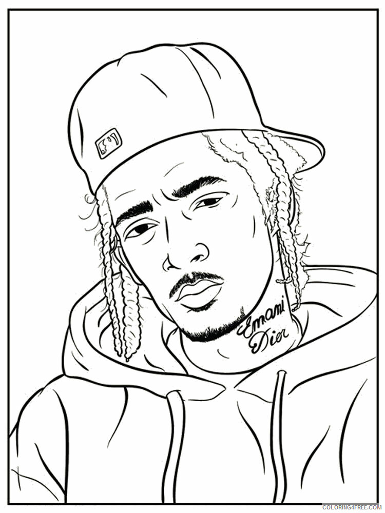 Hip Hop Rap Coloring Pages Hip Hop Rap 2 Printable 2021 3277 Coloring4free