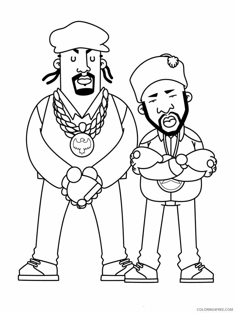 Hip Hop Rap Coloring Pages Hip Hop Rap 7 Printable 2021 3282 Coloring4free