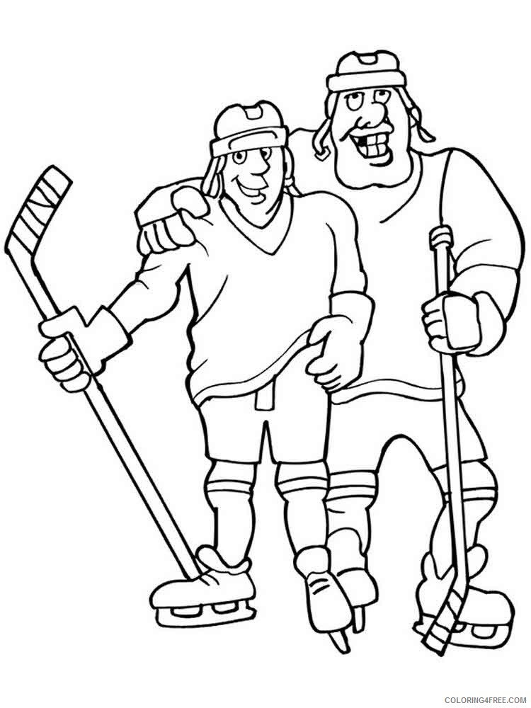 Hockey Coloring Pages Hockey 11 Printable 2021 3308 Coloring4free