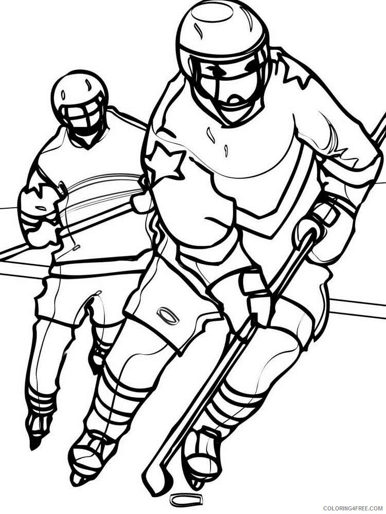 Hockey Coloring Pages Hockey 16 Printable 2021 3311 Coloring4free