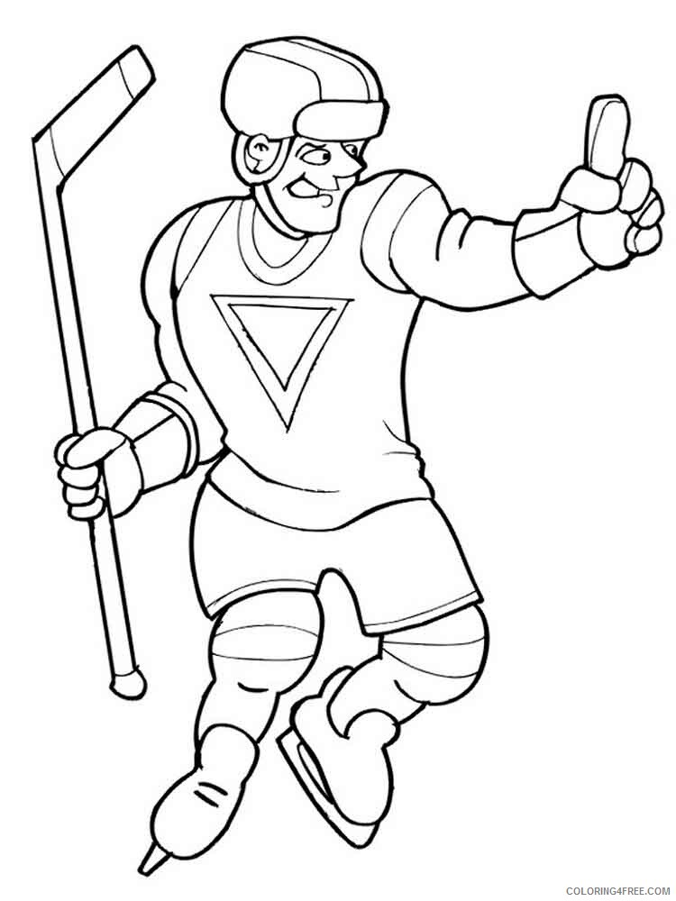 Hockey Coloring Pages Hockey 2 Printable 2021 3313 Coloring4free