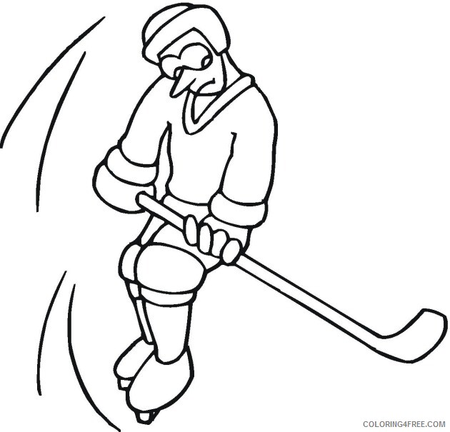 Hockey Coloring Pages hockey 3 Printable 2021 3301 Coloring4free