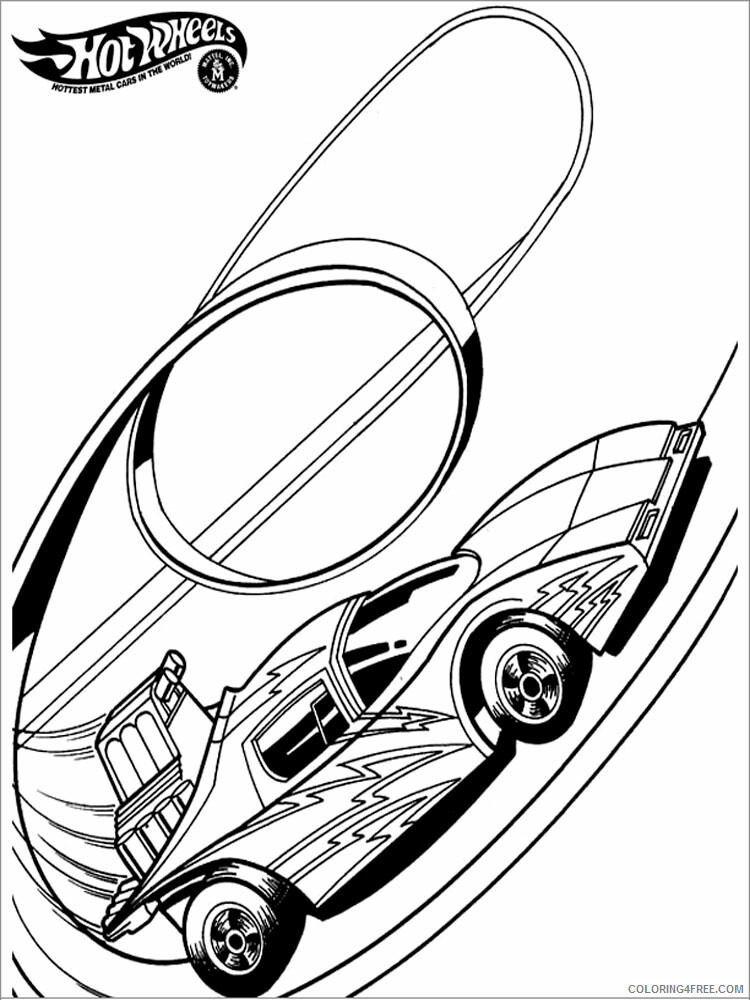 Hot Wheels Coloring Pages Hot Wheels 1 Printable 2021 3402 Coloring4free