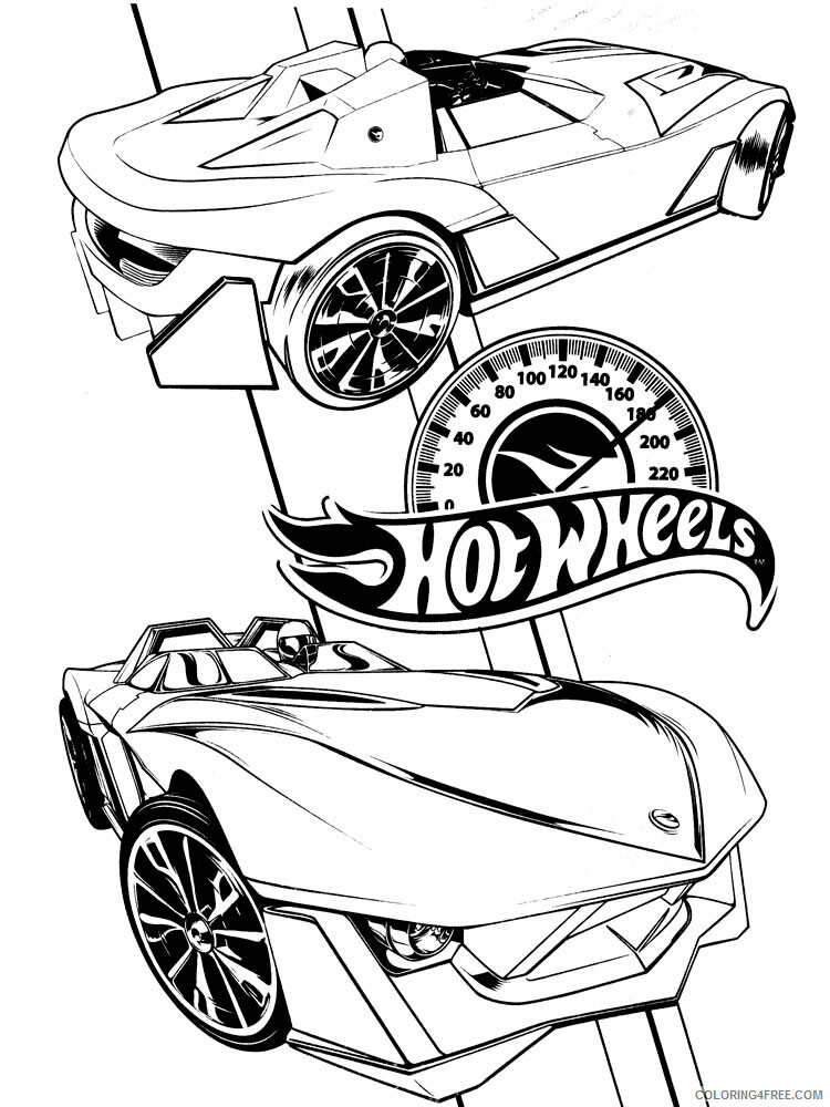 Hot Wheels Coloring Pages Hot Wheels 16 Printable 2021 3413 Coloring4free