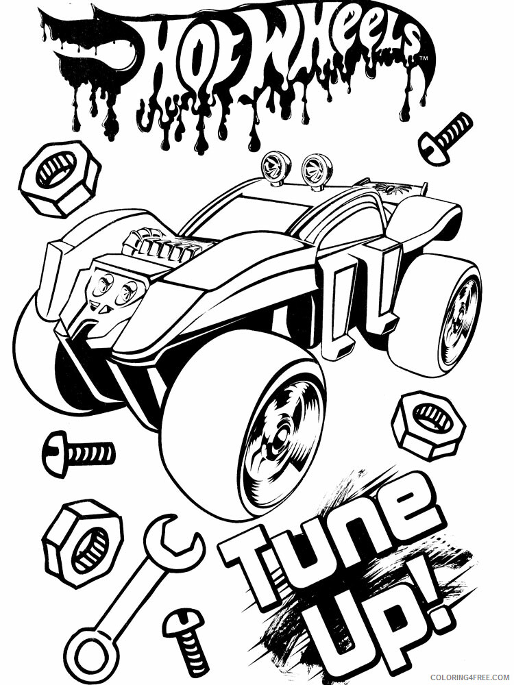 Hot Wheels Coloring Pages Hot Wheels 26 Printable 2021 3422 Coloring4free