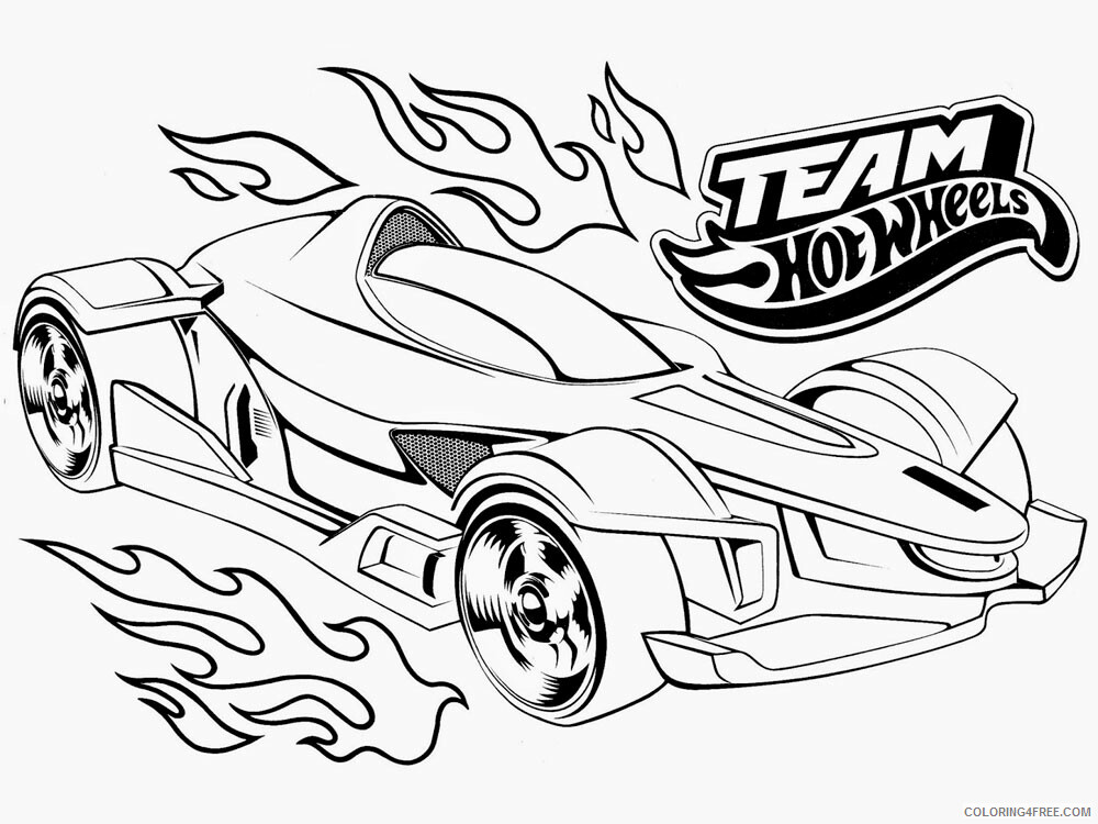 Hot Wheels Coloring Pages Hot Wheels 28 Printable 2021 3424 Coloring4free