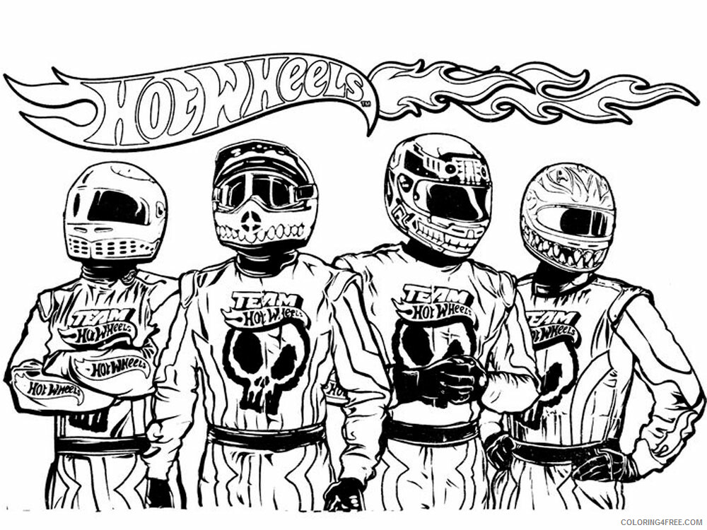Hot Wheels Coloring Pages Hot Wheels 4 Printable 2021 3436 Coloring4free