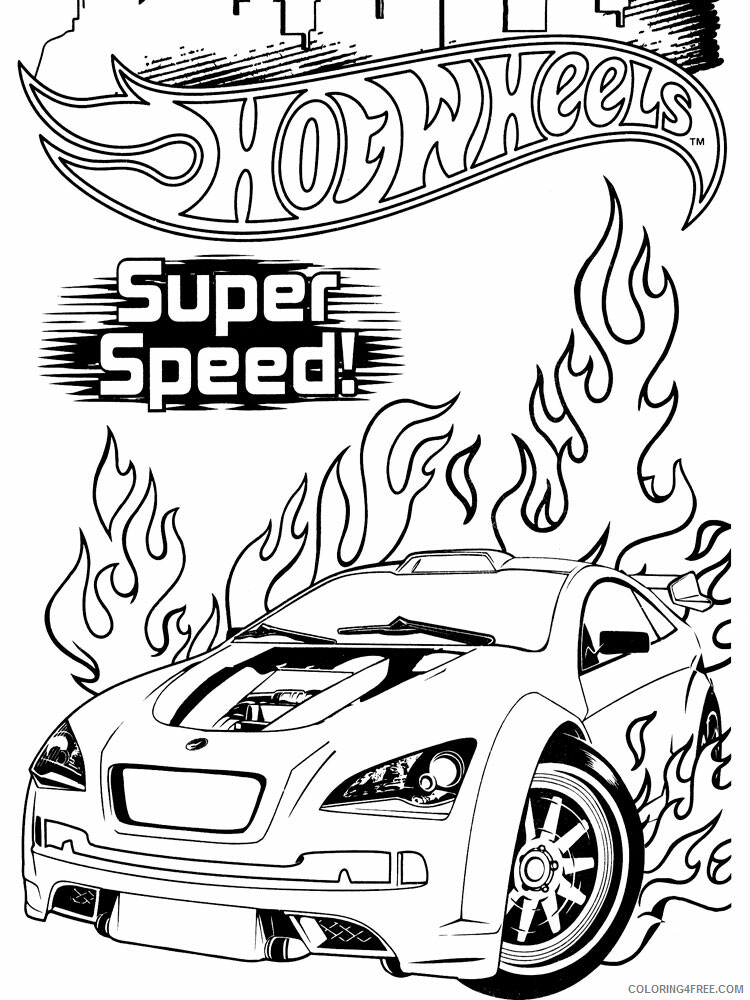 Hot Wheels Coloring Pages Hot Wheels 7 Printable 2021 3440 Coloring4free