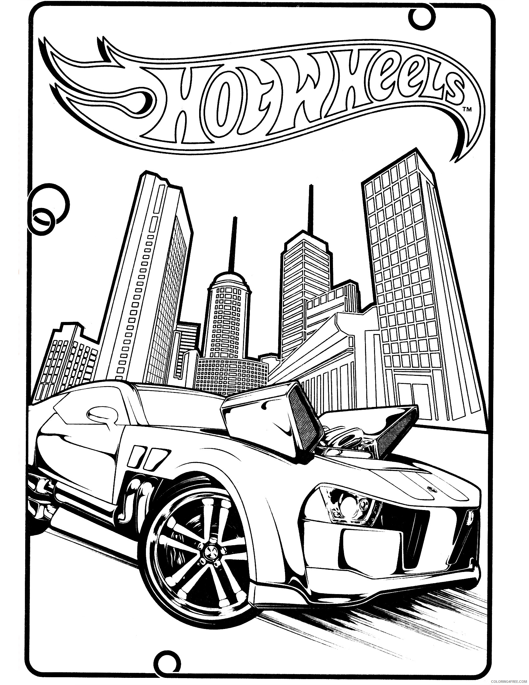Hot Wheels Coloring Pages Hot Wheels Printable 2021 3398 Coloring4free