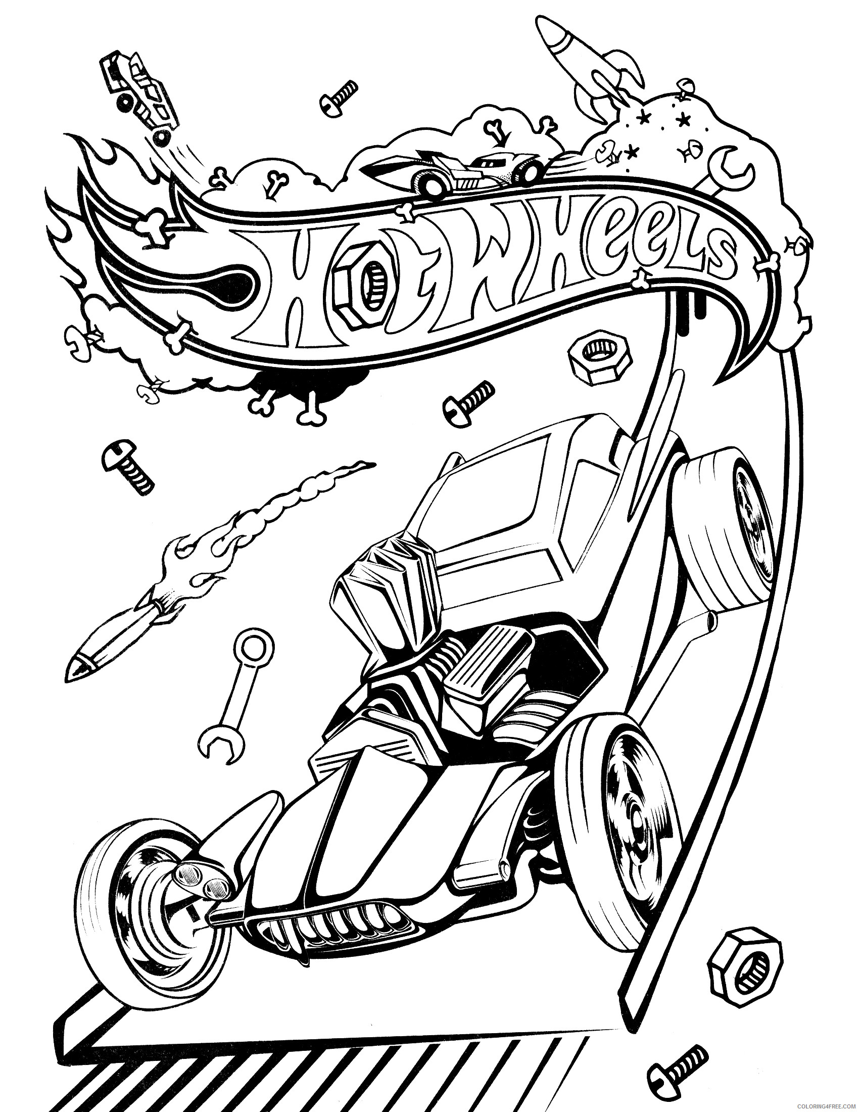 Hot Wheels Coloring Pages Hot Wheels Printable 2021 3400 Coloring4free