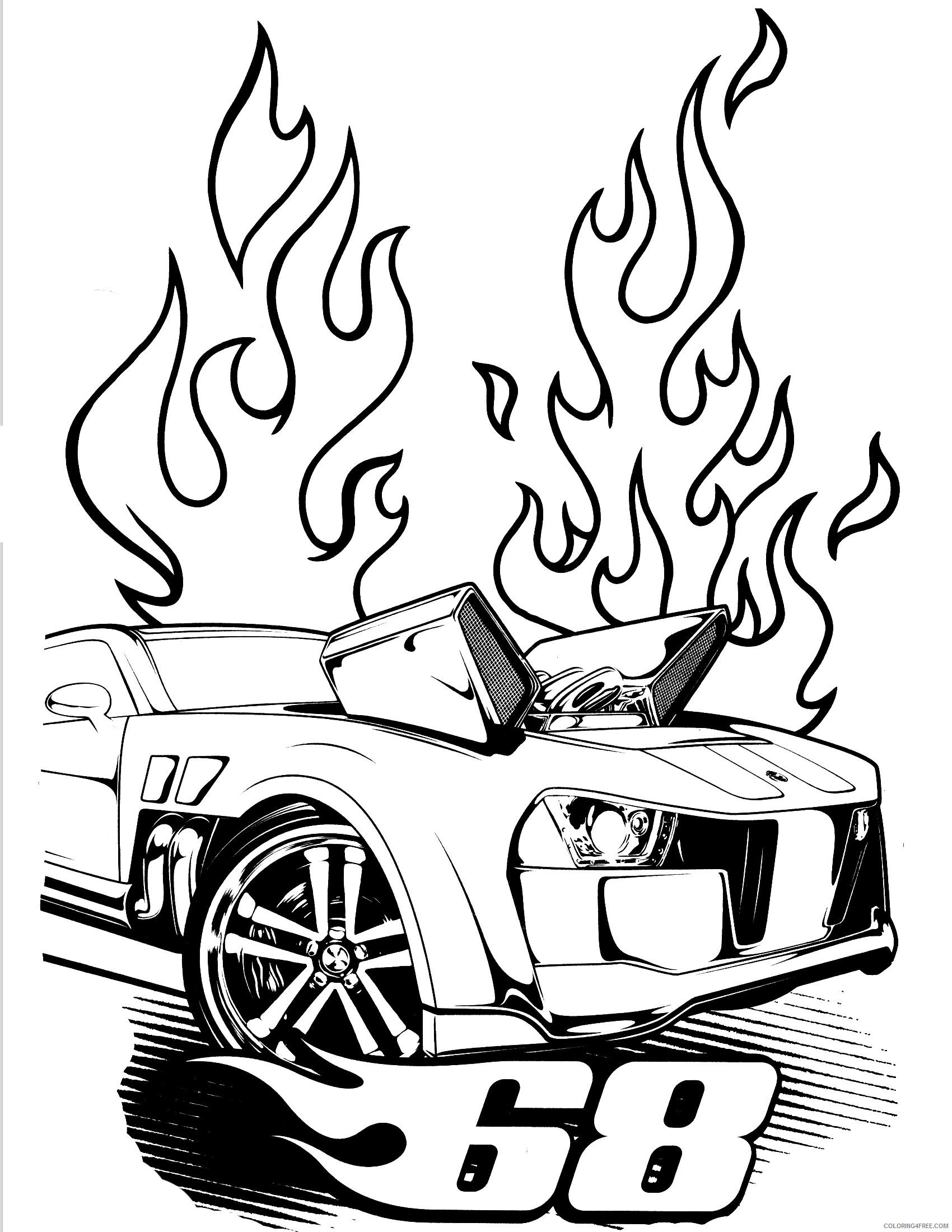 Hot Wheels Coloring Pages Hot Wheels Sheets Printable 2021 3449 Coloring4free