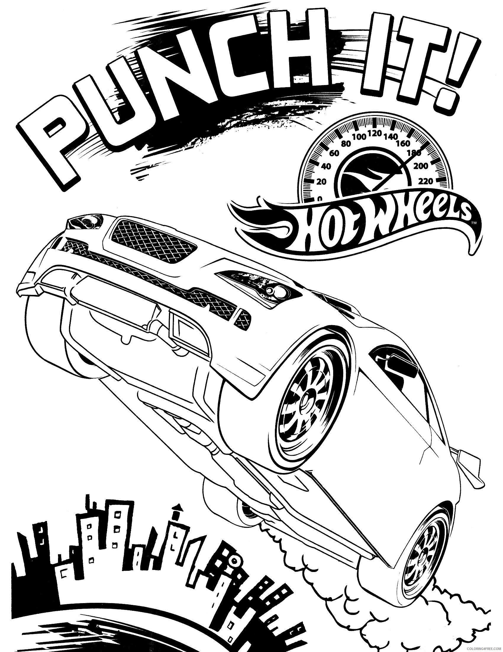 Hot Wheels Coloring Pages Printable Hot Wheel Printable 2021 3453 Coloring4free