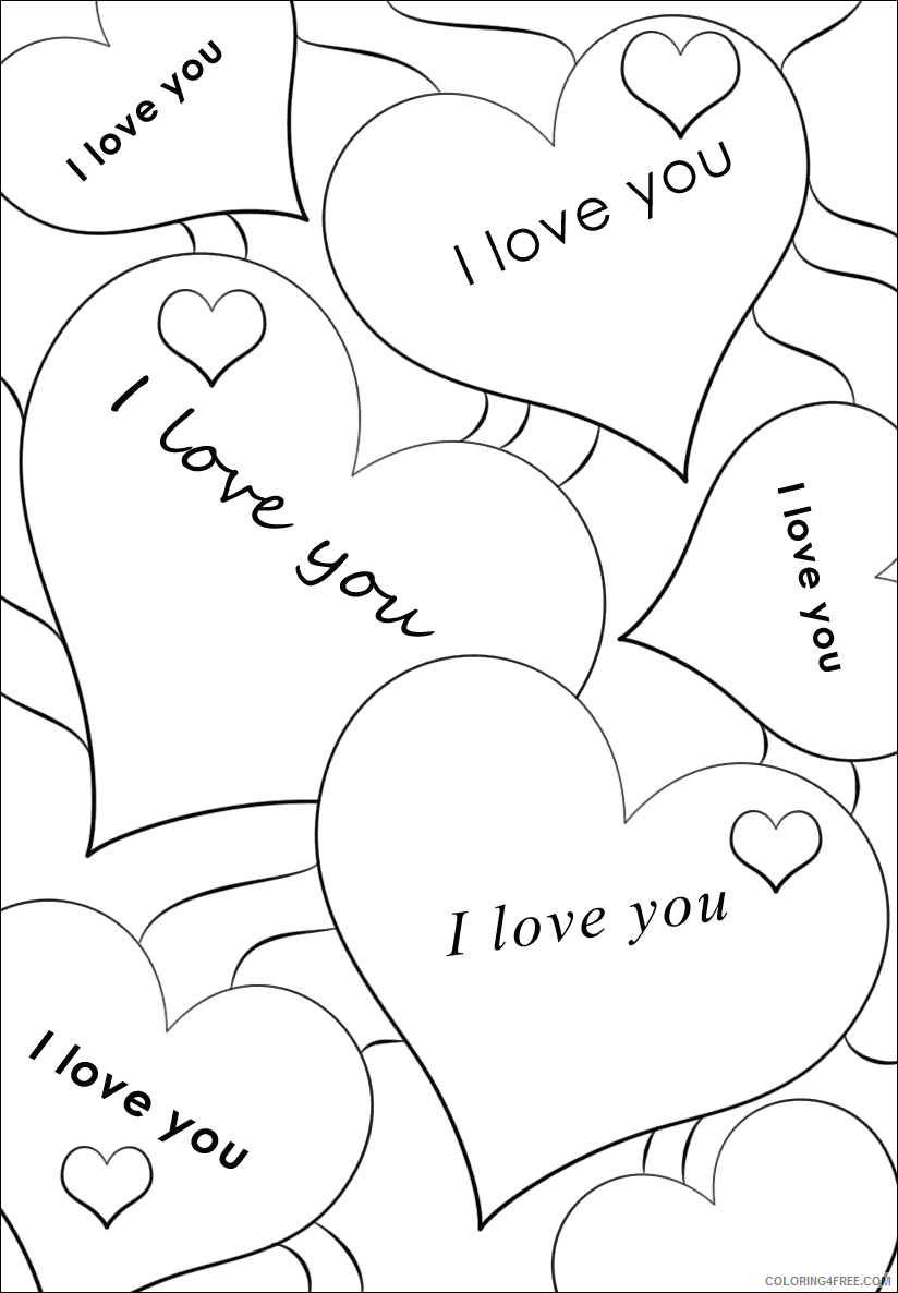 I Love You Coloring Pages I Love You Printable 2021 3468 Coloring4free