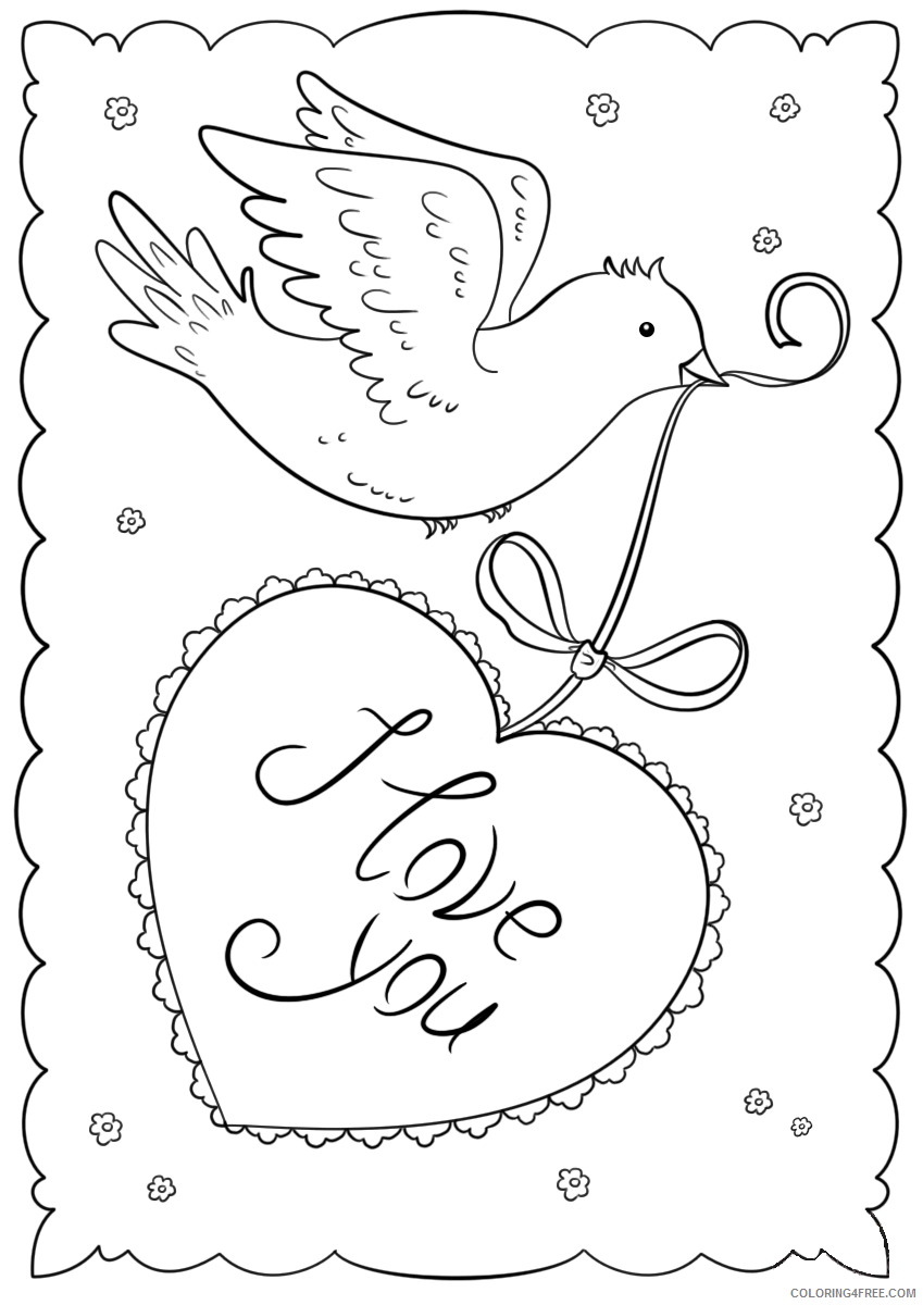 I Love You Coloring Pages I Love You Valentines Day Cards Printable 2021 3483 Coloring4free