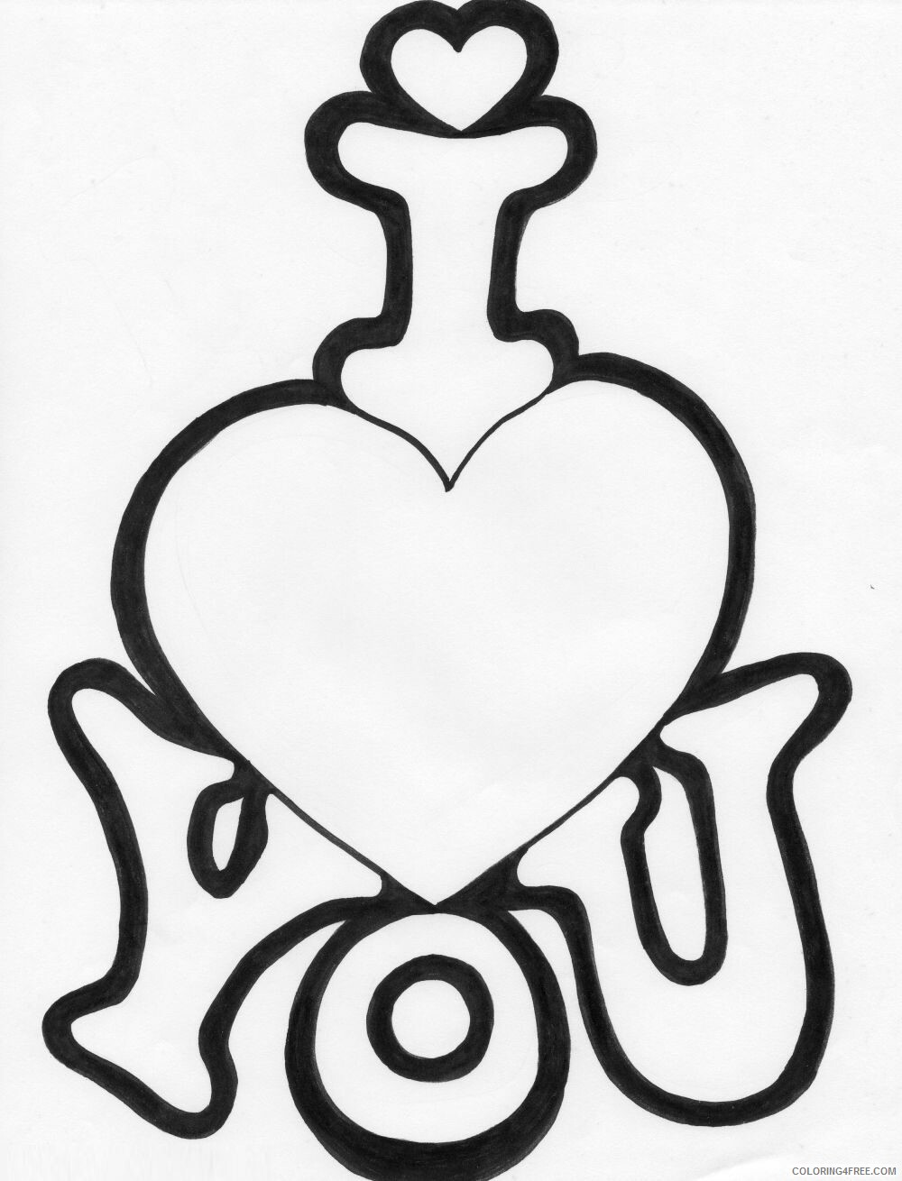 I Love You Coloring Pages I Love you 12 Printable 2021 3470 Coloring4free