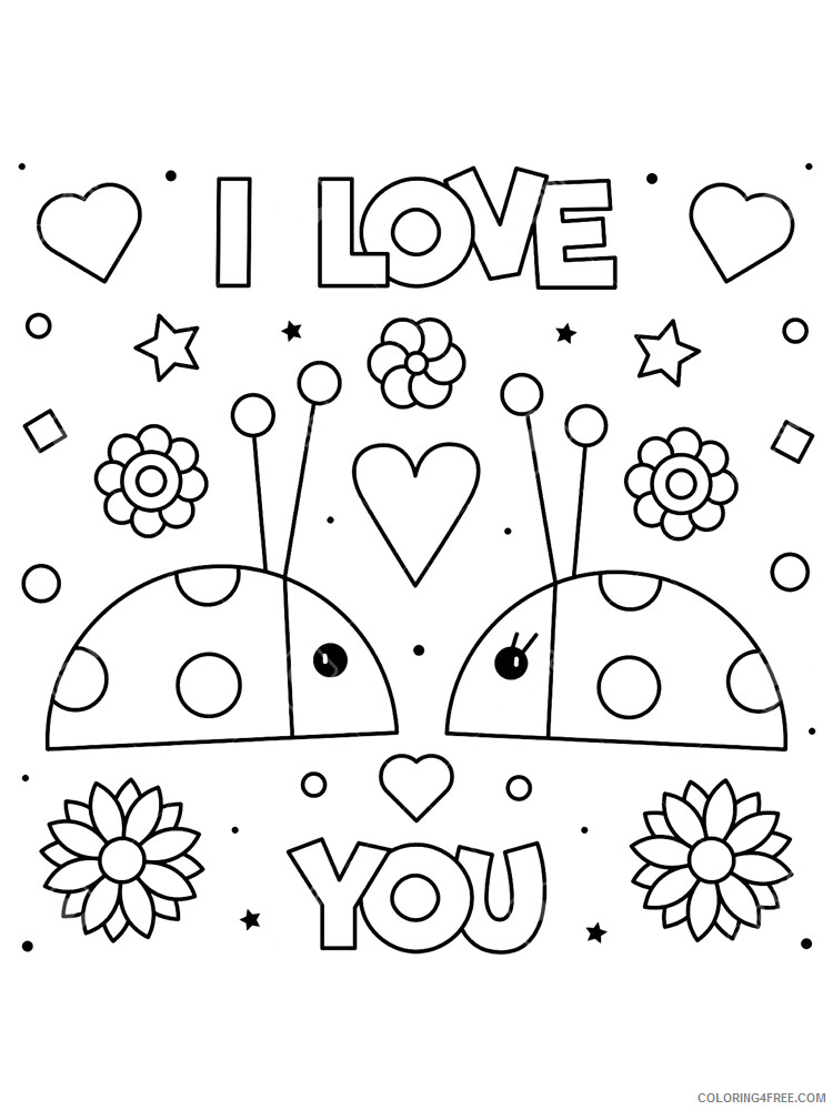 I Love You Coloring Pages I Love you 7 Printable 2021 3480 Coloring4free