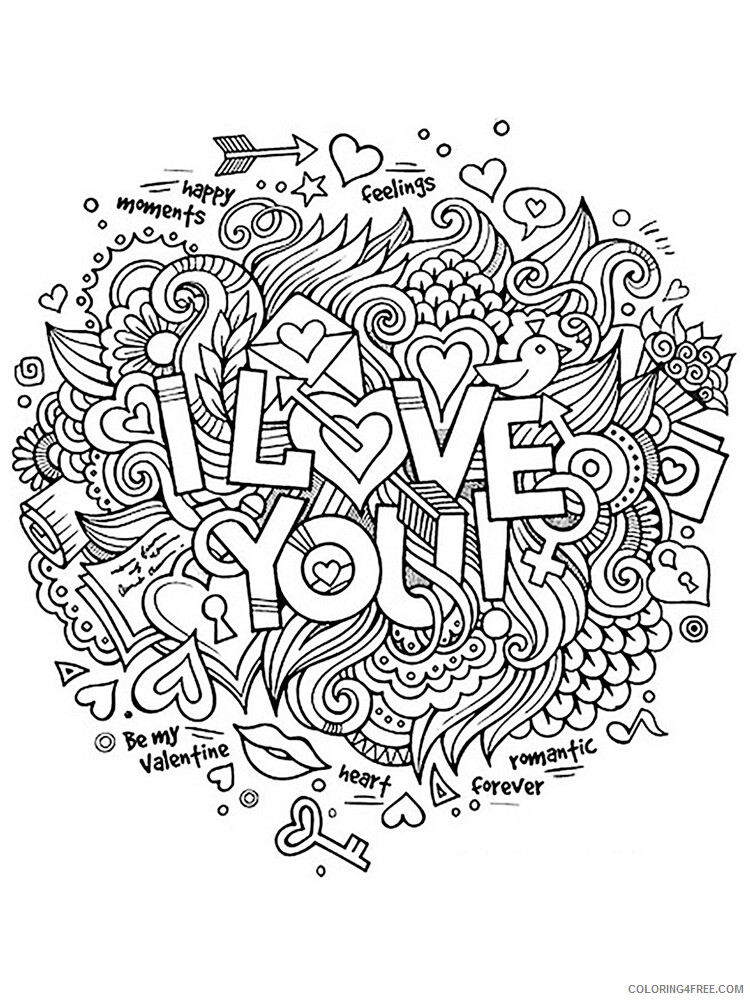I Love You Coloring Pages I Love you 9 Printable 2021 3482 Coloring4free