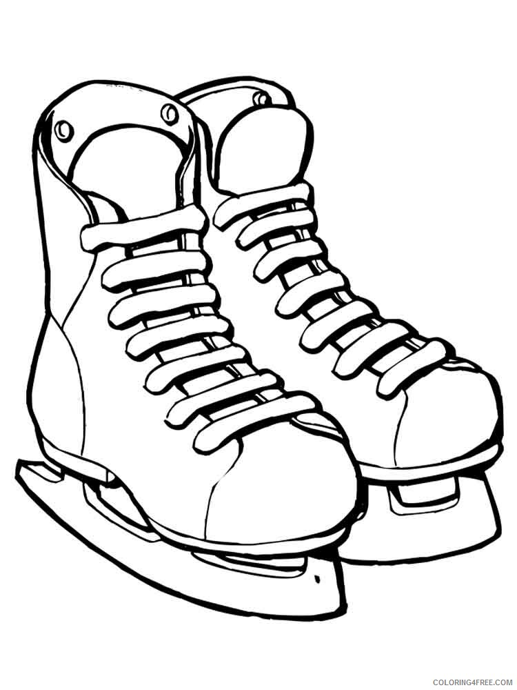 Ice Skating Coloring Pages Ice Skates 11 Printable 2021 3492 Coloring4free