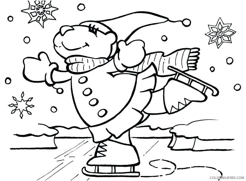 Ice Skating Coloring Pages Ice Skating January Printable 2021 3501 Coloring4free