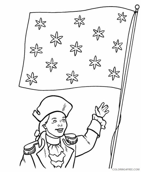 Independence Day Coloring Pages Honoring Flag Celebration Printable 2021 3514 Coloring4free