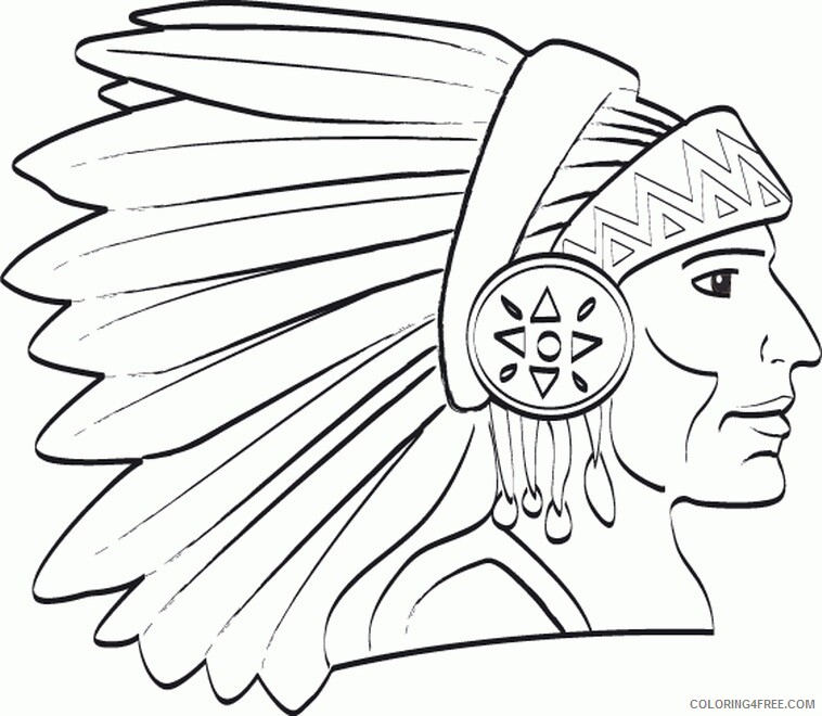 Indian Coloring Pages indianer SVrC5 Printable 2021 3540 Coloring4free