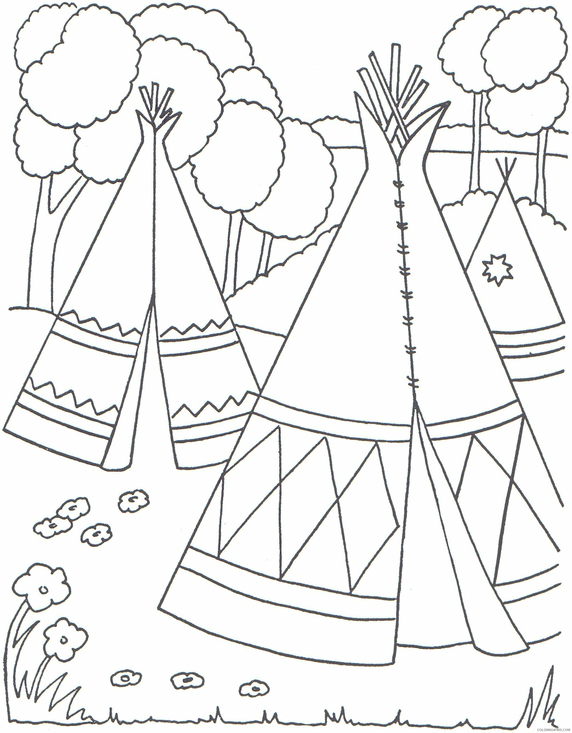 Indian Coloring Pages indianer dG7Mh Printable 2021 3538 Coloring4free