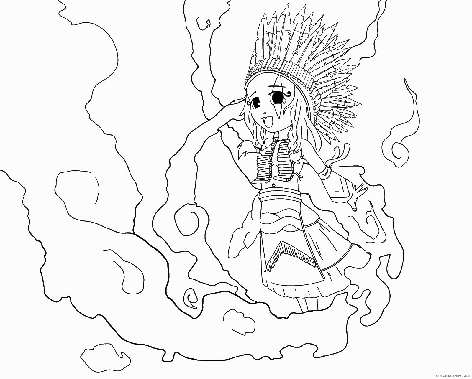 Indian Coloring Pages indians_06 Printable 2021 3544 Coloring4free