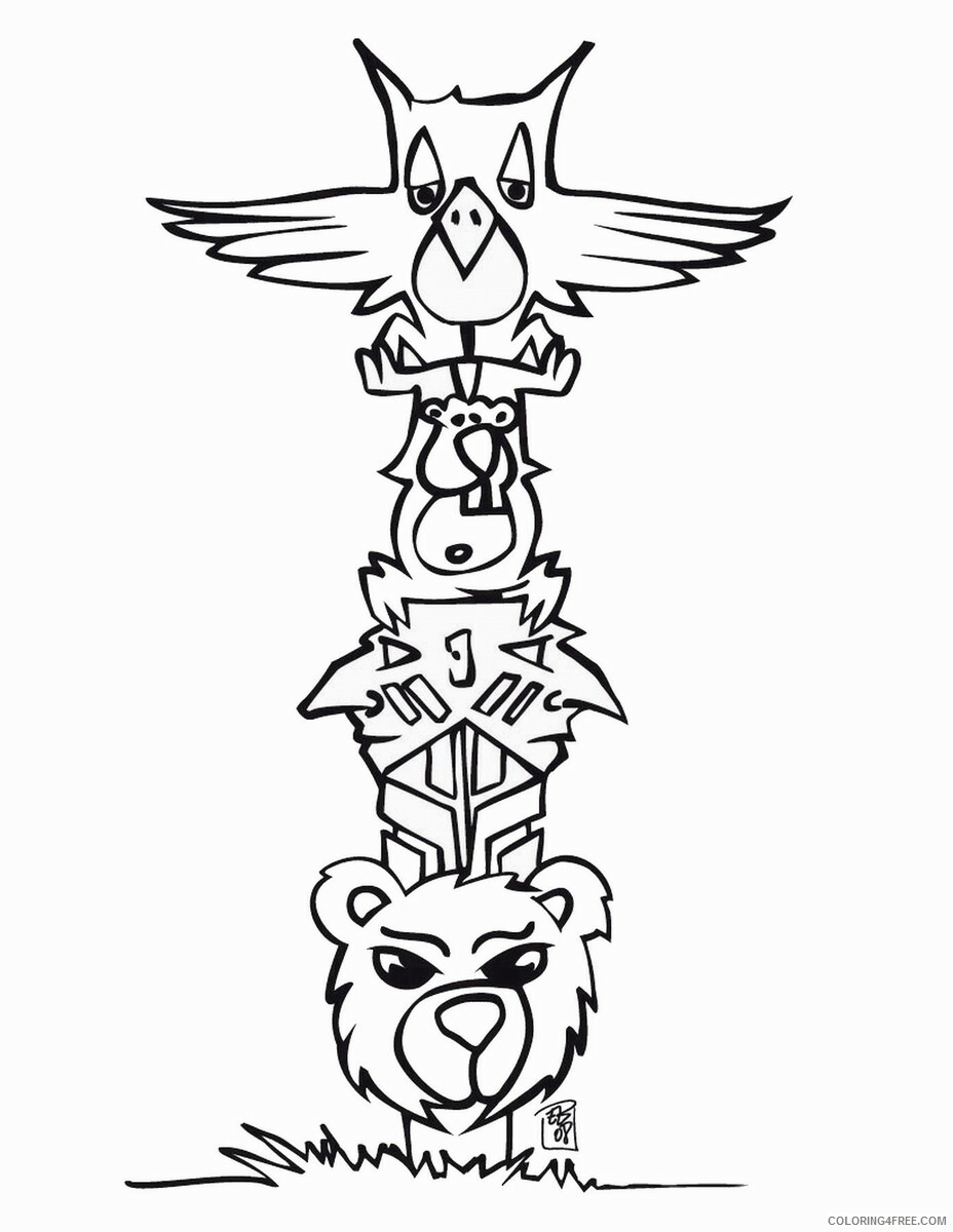 Indian Coloring Pages indians_14 Printable 2021 3547 Coloring4free