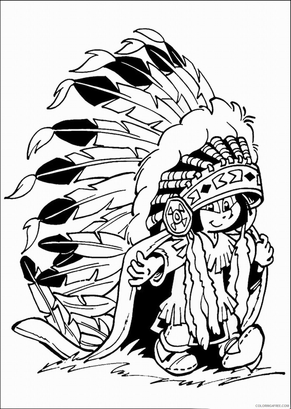 Indian Coloring Pages indians_22 Printable 2021 3548 Coloring4free