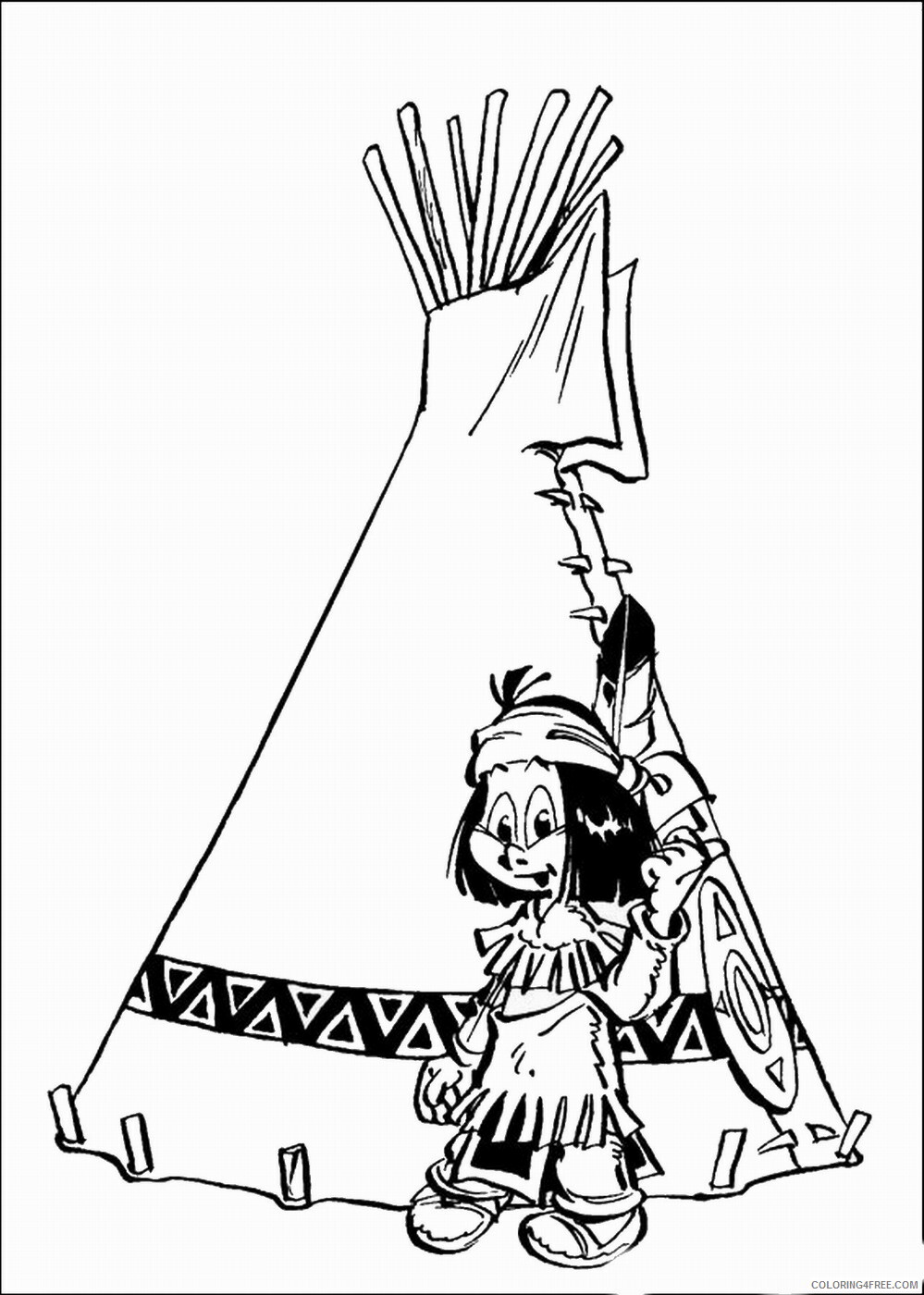 Indian Coloring Pages indians_24 Printable 2021 3549 Coloring4free