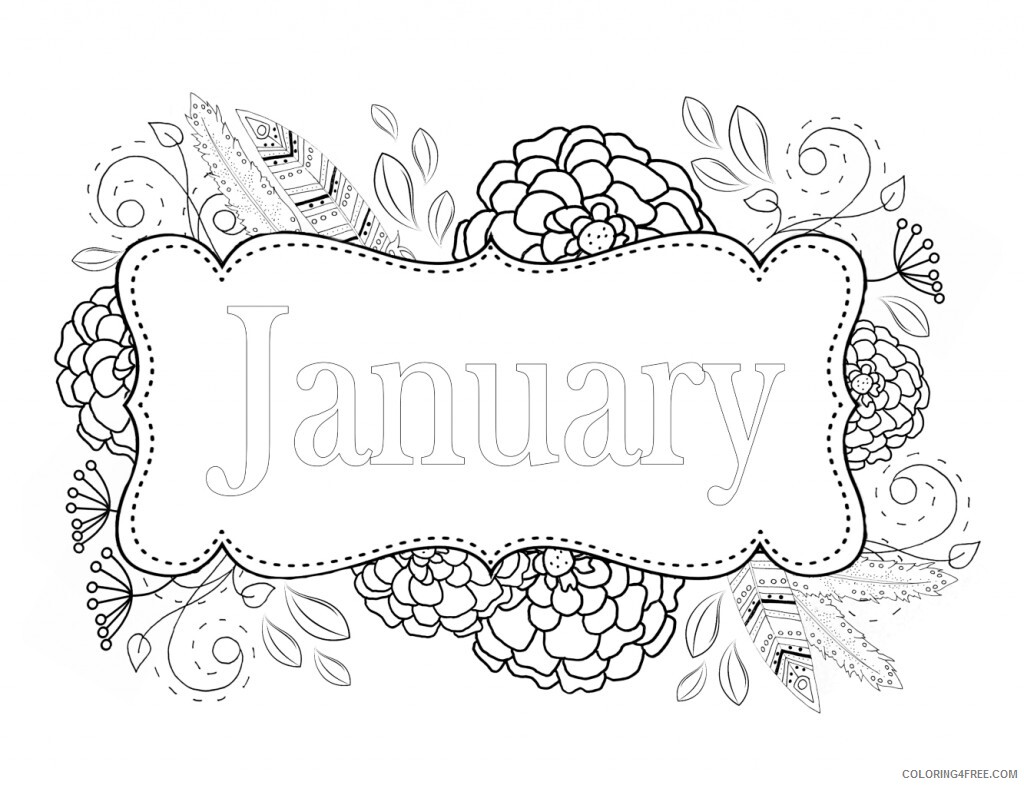 January Coloring Pages January Free Printable 2021 3560 Coloring4free