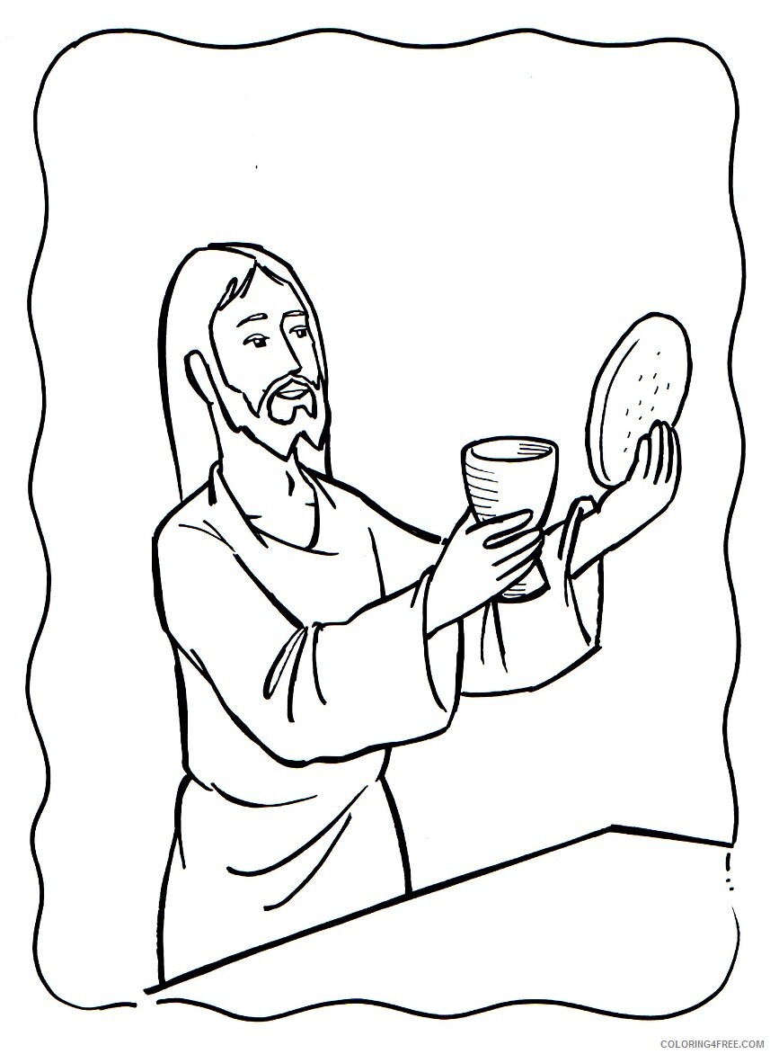 Jesus Coloring Pages Jesus Blood and Body Last Supper Printable 2021 3581 Coloring4free
