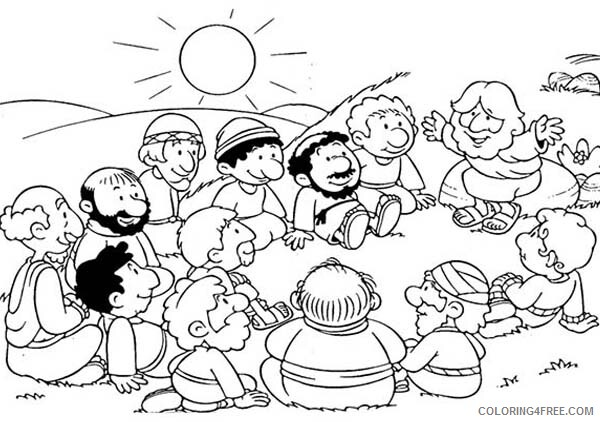 Jesus Coloring Pages Jesus Gather with His Disciples Printable 2021 3584 Coloring4free