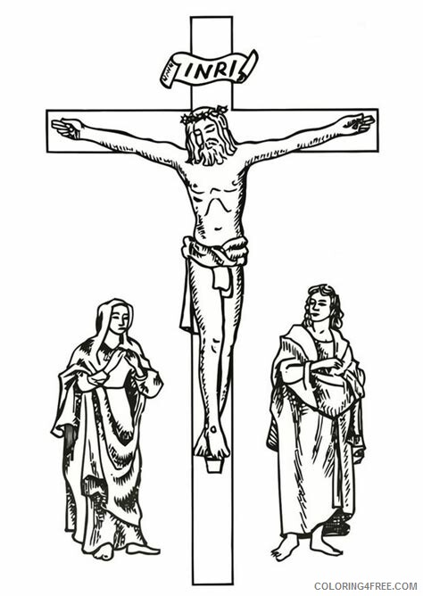 Jesus Coloring Pages Jesus on Good Friday Printable 2021 3589 Coloring4free