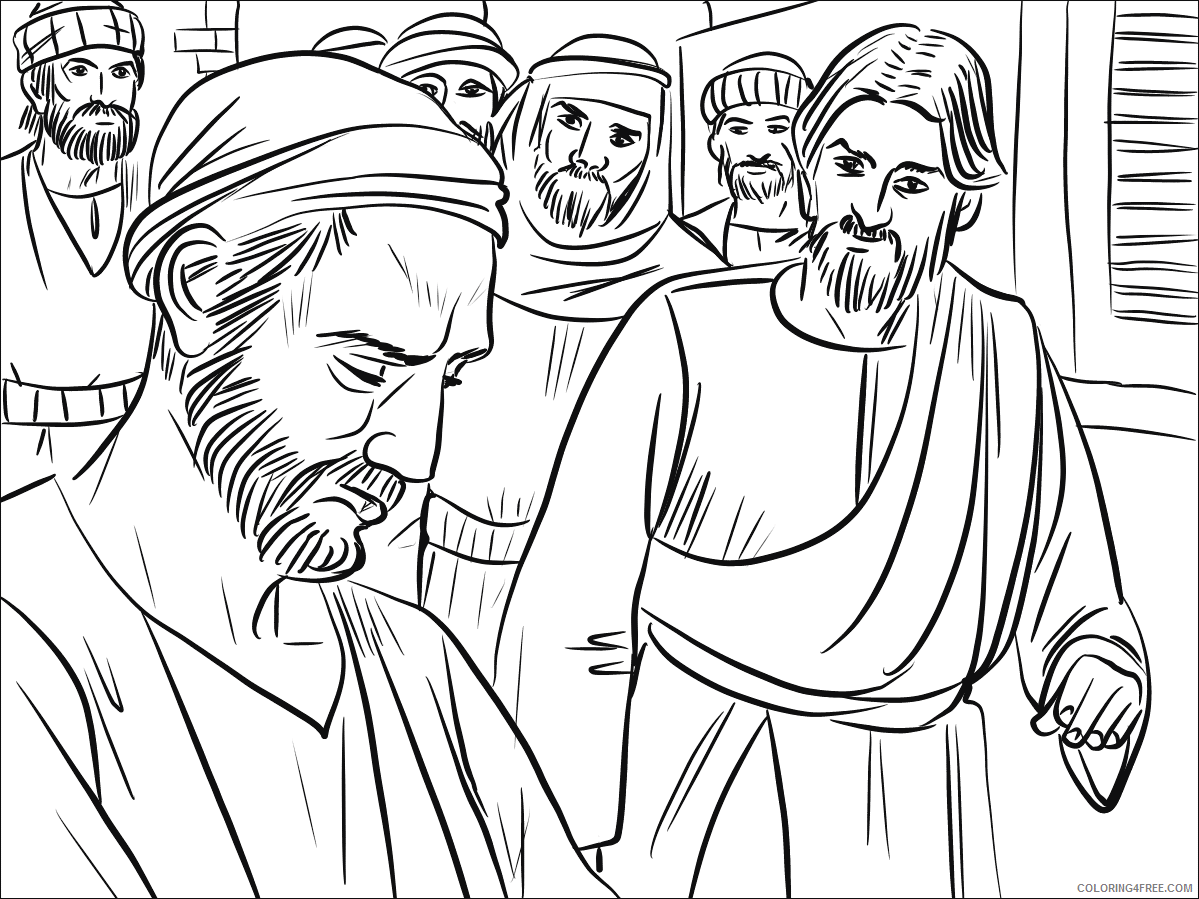 Jesus Coloring Pages jesus heals a man born blind Printable 2021 3585 Coloring4free