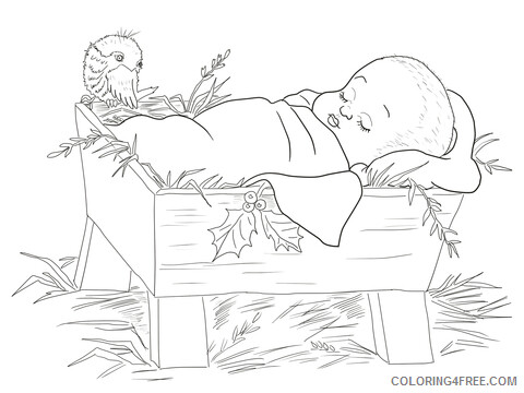 Jesus Coloring Pages nativity baby jesus Printable 2021 3571 Coloring4free