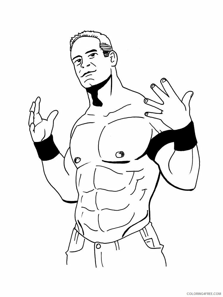 John Cena Coloring Pages John Cena 3 Printable 2021 3603 Coloring4free