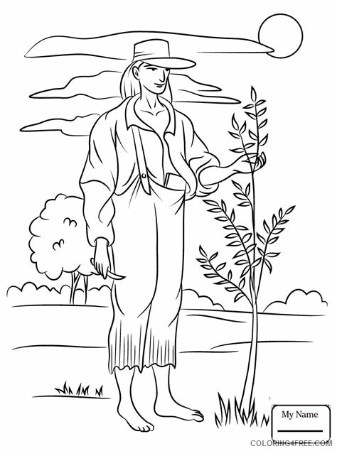 Johnny Appleseed Coloring Pages Color Johnny Appleseed Printable 2021 3607 Coloring4free