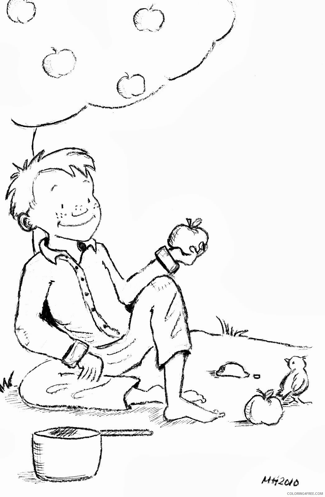 Johnny Appleseed Coloring Pages Johnny Appleseed Printable 2021 3613 Coloring4free