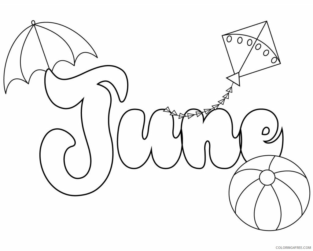 June Coloring Pages June Printable 2021 3624 Coloring4free