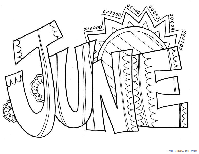 June Coloring Pages Sunny June Printable 2021 3625 Coloring4free