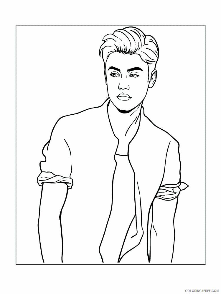 Justin Bieber Coloring Pages Justin Bieber 1 Printable 2021 3631 Coloring4free
