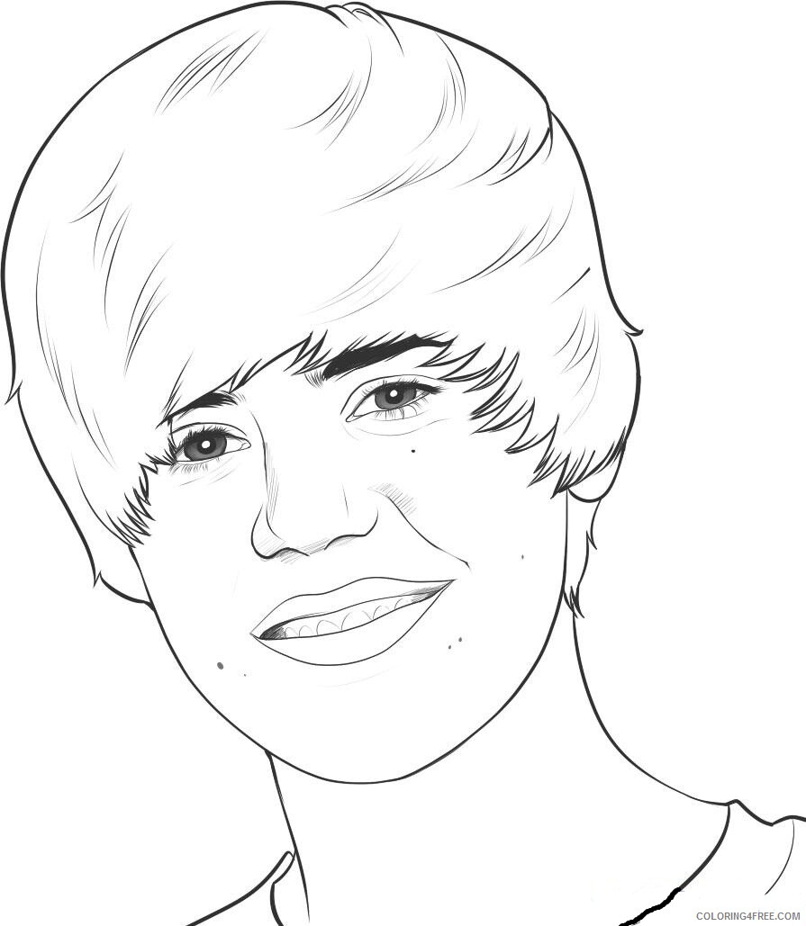 Justin Bieber Coloring Pages justin bieber ujEdH Printable 2021 3628 Coloring4free