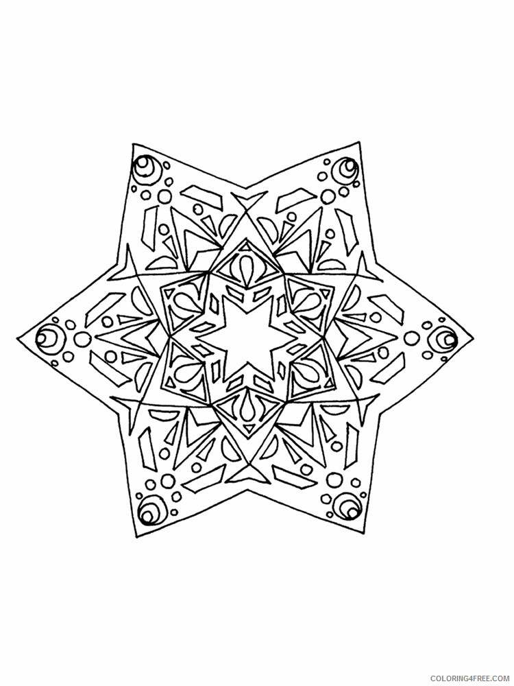 Kaleidoscope Coloring Pages Kaleidoscope 10 Printable 2021 3640 Coloring4free