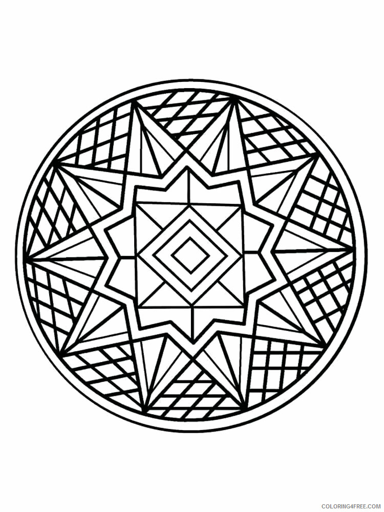 Kaleidoscope Coloring Pages Kaleidoscope 13 Printable 2021 3643 Coloring4free
