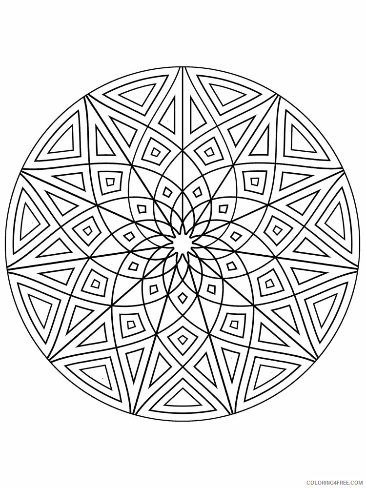 Kaleidoscope Coloring Pages Kaleidoscope 14 Printable 2021 3644 Coloring4free
