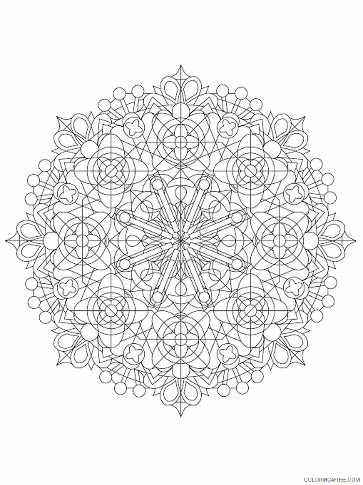 Kaleidoscope Coloring Pages Kaleidoscope 15 Printable 2021 3645 Coloring4free