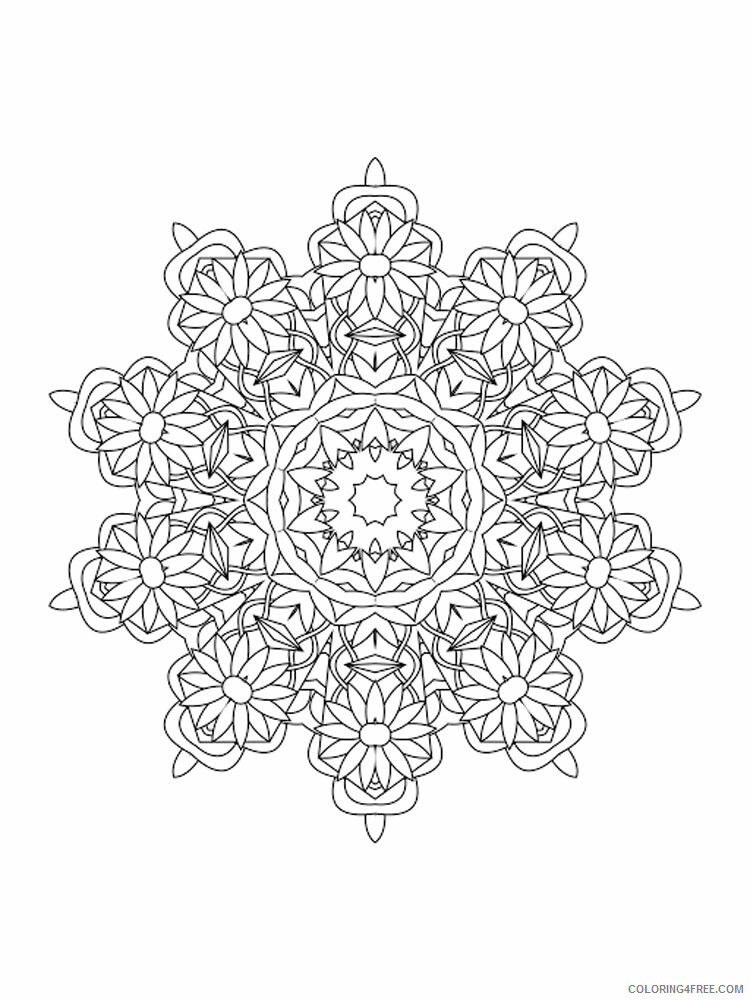Kaleidoscope Coloring Pages Kaleidoscope 16 Printable 2021 3646 Coloring4free
