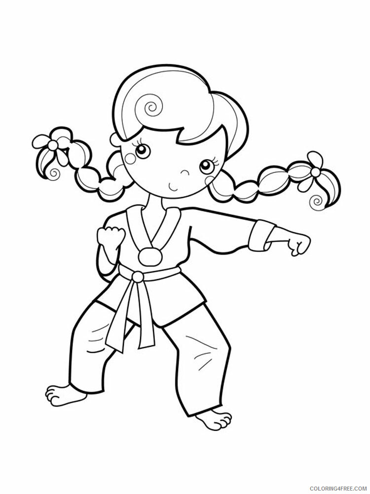 Karate Coloring Pages Karate 1 Printable 2021 3653 Coloring4free