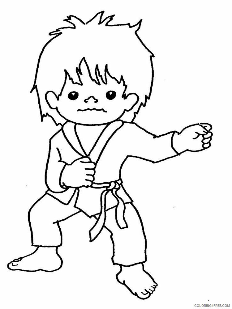 Karate Coloring Pages Karate 5 Printable 2021 3655 Coloring4free